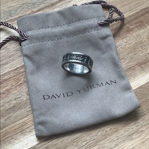 {David Yurman} Sterling Silver Armory Narrow Ring